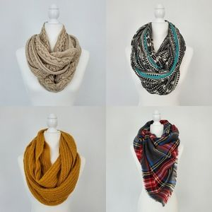 4 Snoods/Scarf For $20